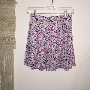 Lace Floral Print Skater Skirt
